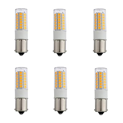 Arrownine 3Watt BA15S LED Bulb Bayonet Single Contact S8 12V AC/DC Warm White for Auto Turn Signal Trail Lighting RV Camper Marine Cabin Boats Lights,Outdoor Landscape Path Lighting Fixtures: Home Improvement