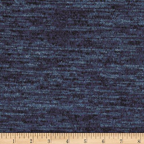 (TELIO Topaz Hatchi Knit Petrol Blue Fabric by The Yard)