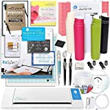 Silhouette CAMEO 2 Touch Screen Starter Bundle with Vinyl Kit, Online Class, Starter Guide, 2 Cutting Blades, Pixscan Mat, Metallic Pens, Tools and More
