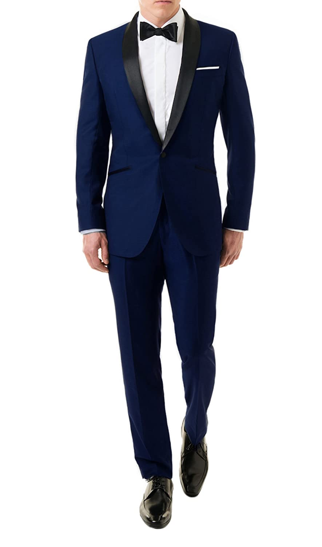 Sky James Fall Bond Midnight Blue Tuxedo Suit At Amazon