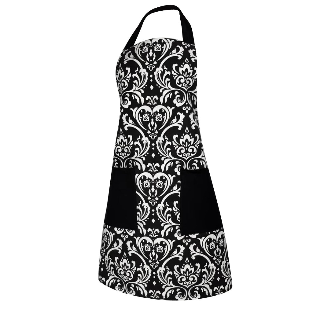 Fityle 1pc Cotton Pocket Apron BBQ Barbecue Catering Aprons Kitchen Cooking Bib