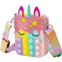 Pop Fidget Toys It Unicorn Shoulder Bag, Pop Fidget Toys It Purse, Popper Push Bubble Fidget Sensory Stress Release Toys…