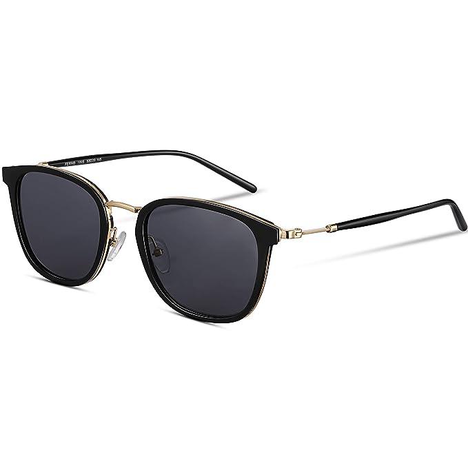 Amazon.com: Gafas de sol redondas EyeGlow para mujer con ...
