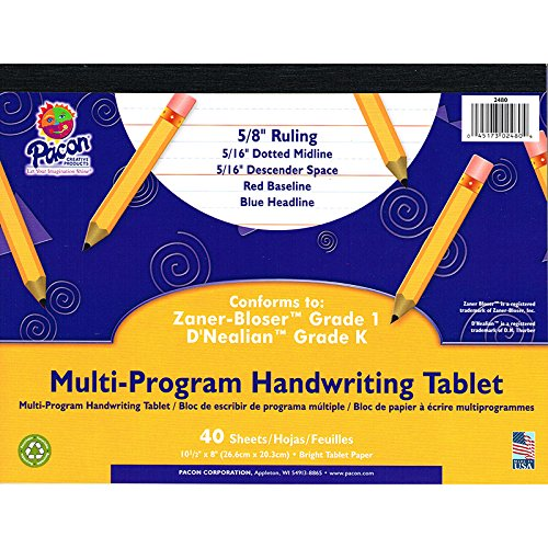PACON CORPORATION DNEALIAN MULTI-PROGRAM HANDWRITING (Set of 12) by Pacon