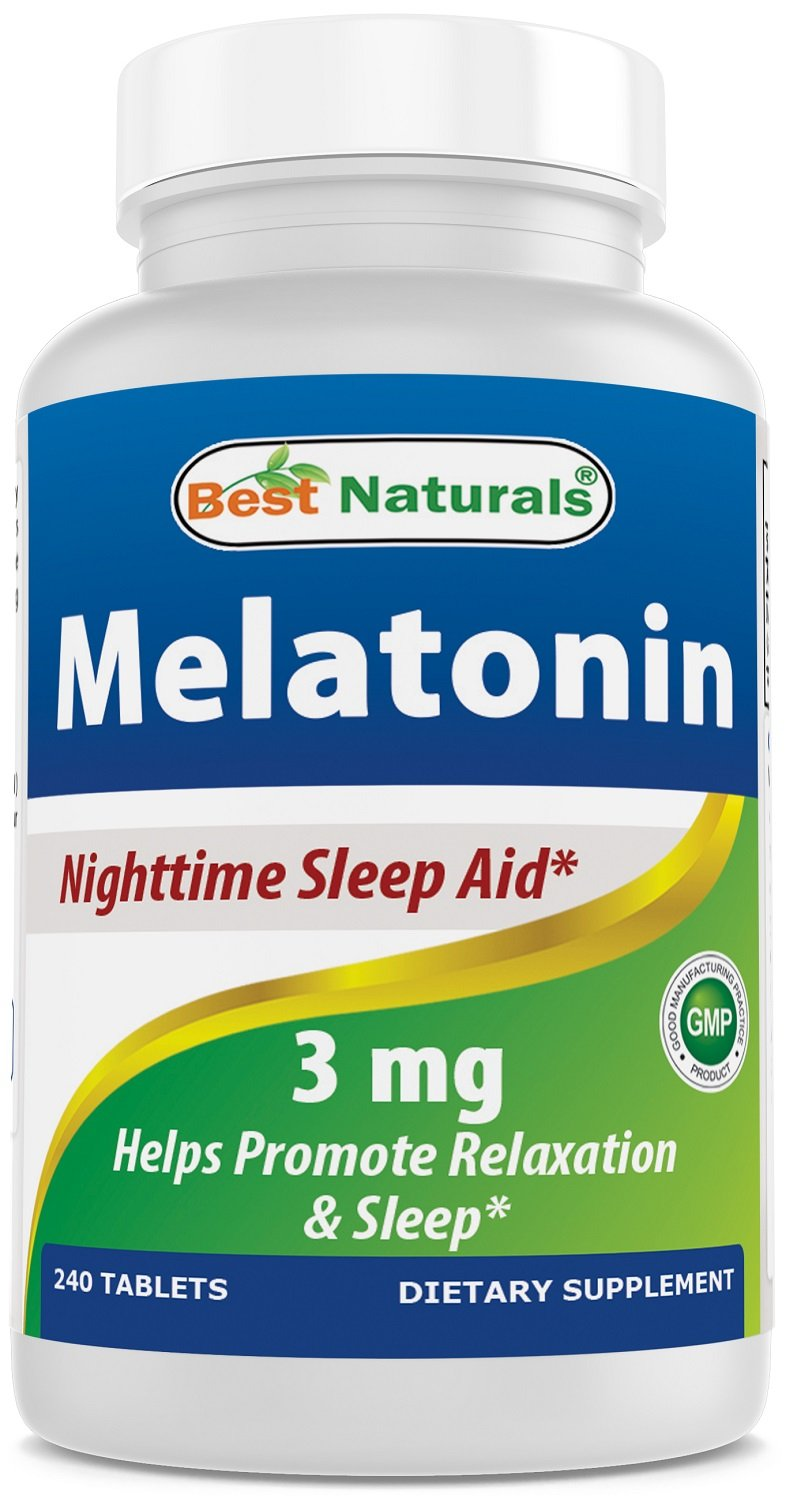 Amazon.com: BEST NATURALS Melatonin 3 mg 240 Tablets, 0.02 Pound: Health & Personal Care
