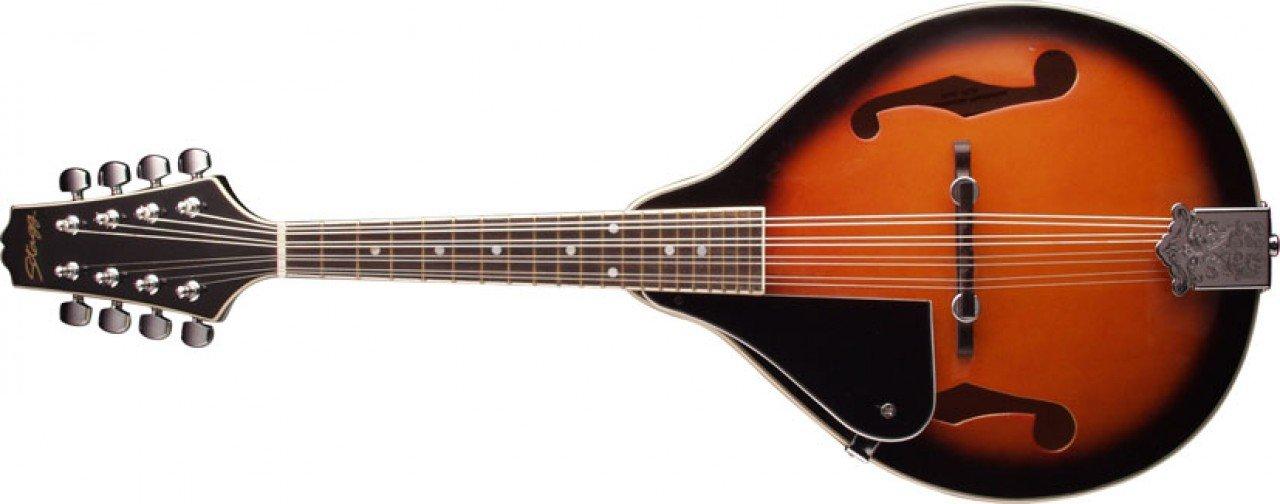 Stagg M20 Left-Handed 8-String Bluegrass Mandolin with Adjustable Bridge - Violinburst