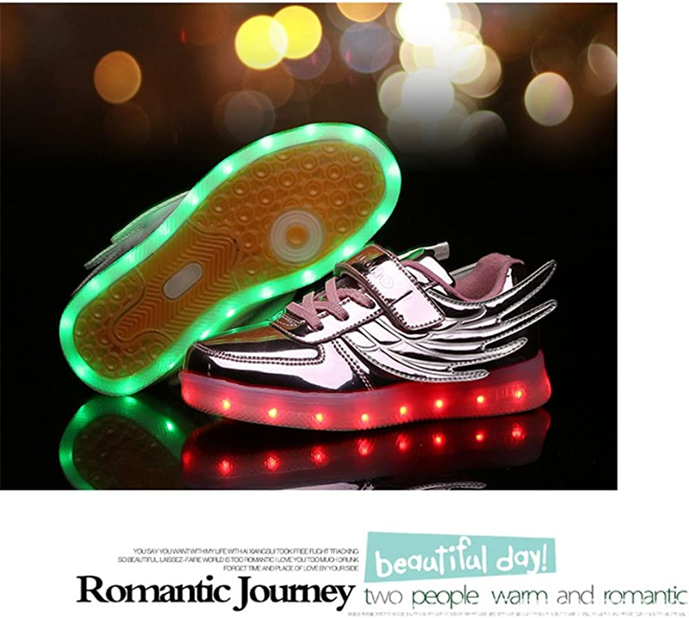pit4tk Kids Winged Light Up Shoes Led Sneakers Flashing Shoes for Kids Boys Girls