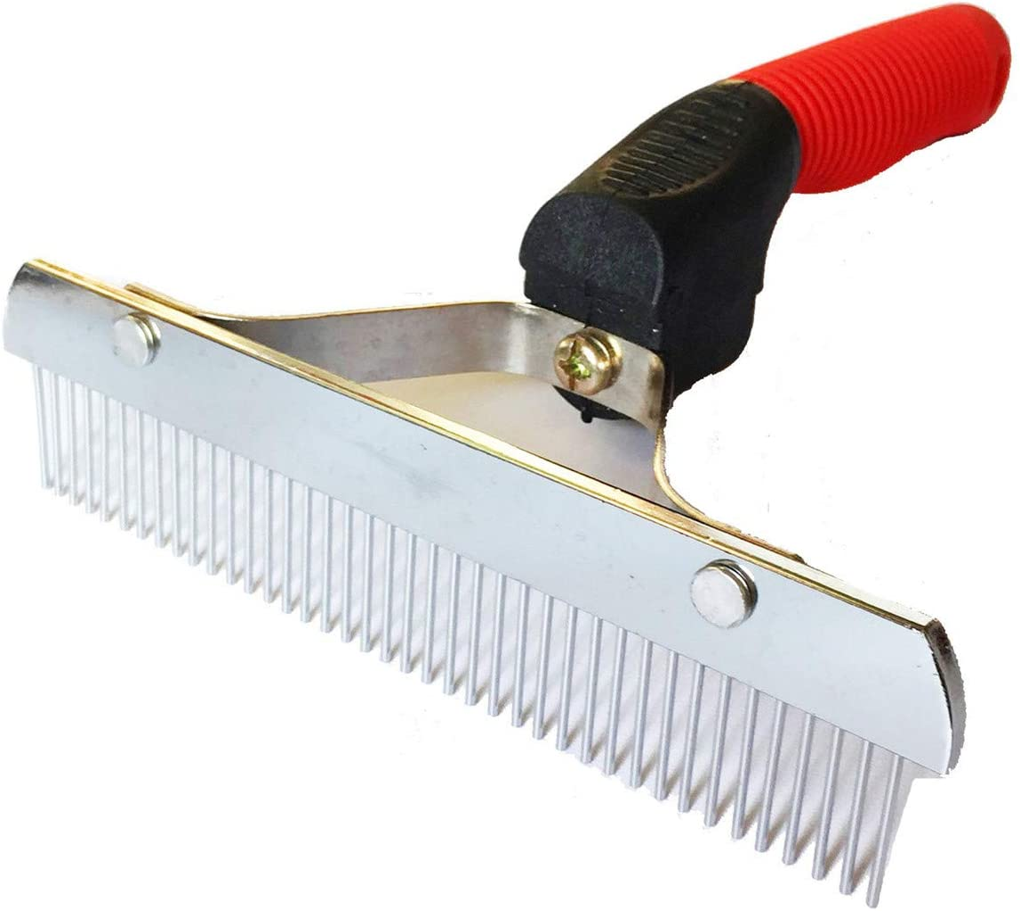 OCTCHOCO Pet Comb Extra-Large Rake Comb Grooming Brush Deshedding Tool Beauty Comb for Large Dogs Golden Retriever Husky German Shepherd