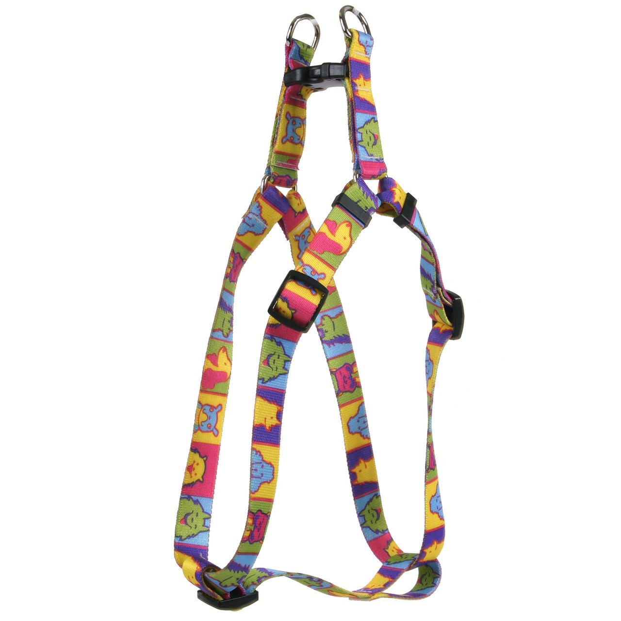 Yellow Dog Design Pop Art Dogs Step-in Dog Harness, Small-3/4 Wide and fits Chest Circumference of 9 to 15''