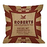 HGOD DESIGNS Decorative Throw Pillow Cover Case Vintage Feed and Seed Sack Chicken