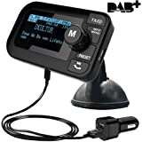 "FirstE 5 in 1 in Car DAB / DAB + Radio Bluetooth FM Transmitter Portable Crystal Sound DAB Digital Radio Wireless FM Adapter Bluetooth Empfänger MP3 Player Radio Audio Adapter 3.5mm Aux Output Car Kit mit 2.3"" Großes LCD Display Micro SD Card & Dual USB Auto Ladegerät Freisprecheinrichtung Anruf für iPhone Android Smartphone"