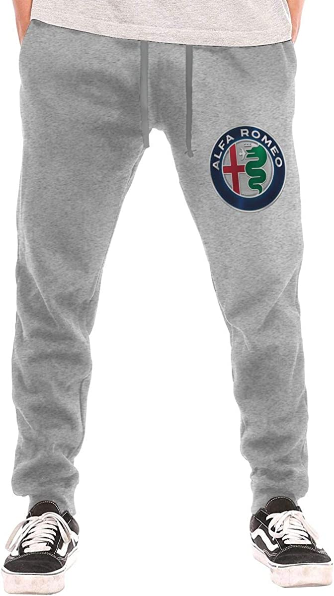 Men's Sweatpants Alfa Romeo Athletic Jogger Long Pants Gray
