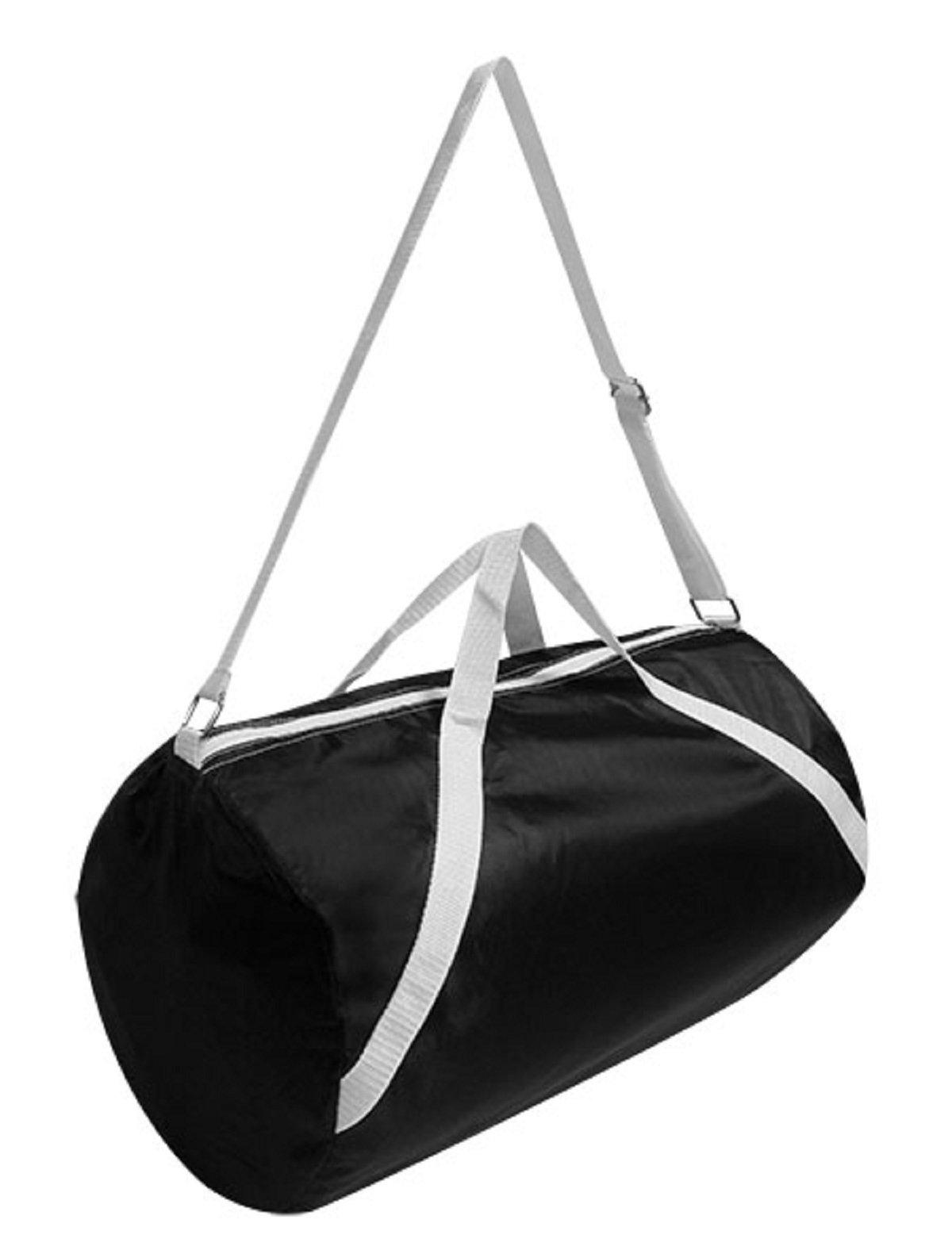 NYLON SPORT ROLL BAG, Black, Case of 48 by DollarItemDirect