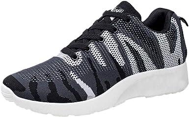 beautyjourney Zapatillas de Deporte de Malla para Hombre Zapatos Casual de Camuflaje Deportivo Zapatillas Deportivas Transpirables Suaves: Amazon.es: Ropa y accesorios