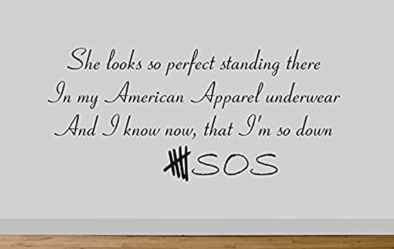 Amazon Com Firstdecals 5 Sos She S So Perfect American Apparel Wall Sticker 10 Home Kitchen