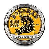 Relaxing Beard Balm Gold Scent - All Natural Beard Balm 2 OZ by Bossman Brands