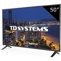 TD Systems K50DLP8F - Televisor Led 50 Pulgadas Full HD, resolución 1920 x 1080, 3x HDMI, VGA, 2x USB Reproductor y Grabador