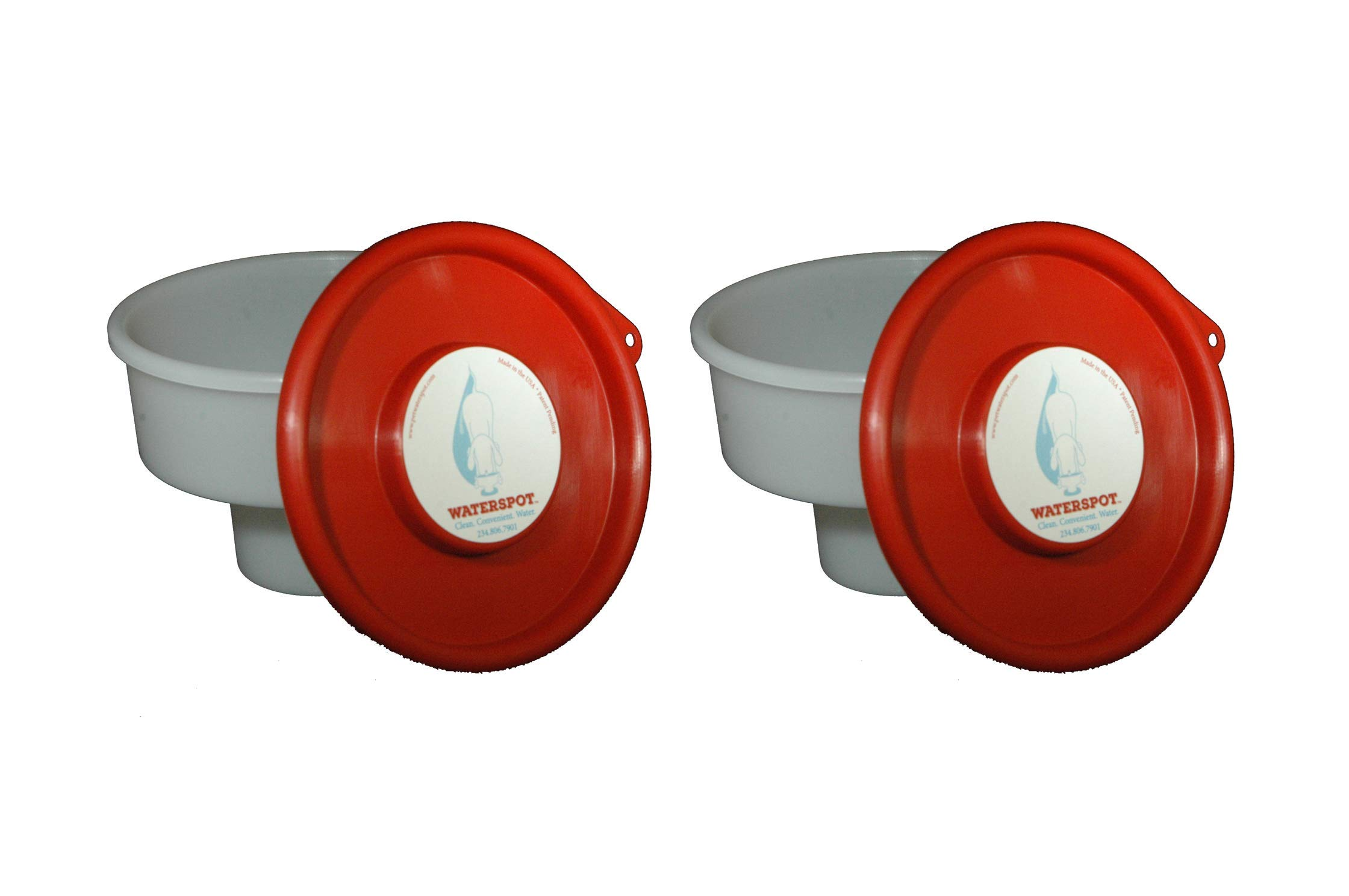 Pet Waterspot Travel Dog Bowl Fits Cupholder Large - 2 Pack (Both Red) by Pet Waterspot