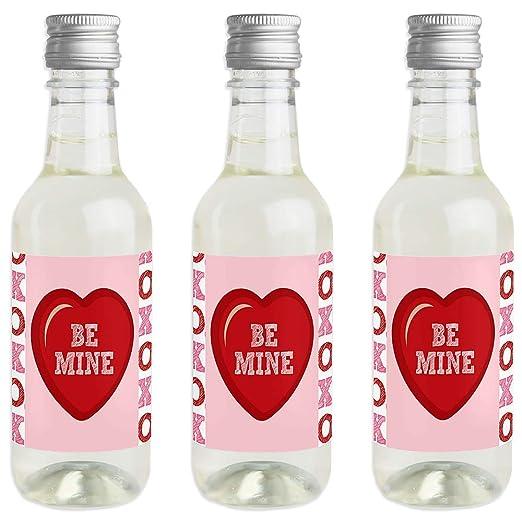 Conversation Hearts - Pegatinas para botella de vino y champán (16 ...