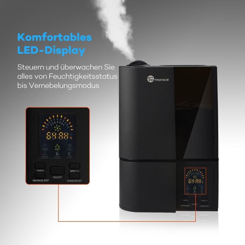 LED-Anzeige 4L gegen Trocknung wegen der Heizung 30W K/ühler-Spr/ühnebel 40-50㎡ Luftbefeuchter Schlafzimmer TaoTronics Ultraschall Befeuchter