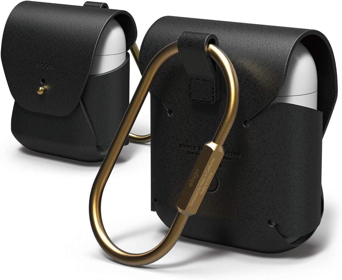 Amazon Com Elago Leather Airpods Case Designed For Apple Airpods
