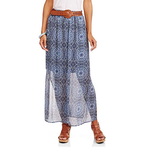 c2947311fe1 Faded Glory Women s Peasant Maxi Skirt at Amazon Women s Clothing store