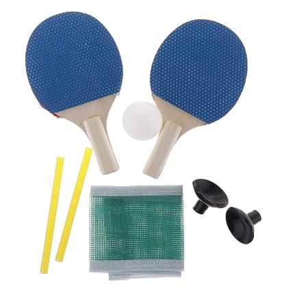 F Fityle 1 Par Mini Mesa Raqueta y Bola para Juego de Tenis de ...