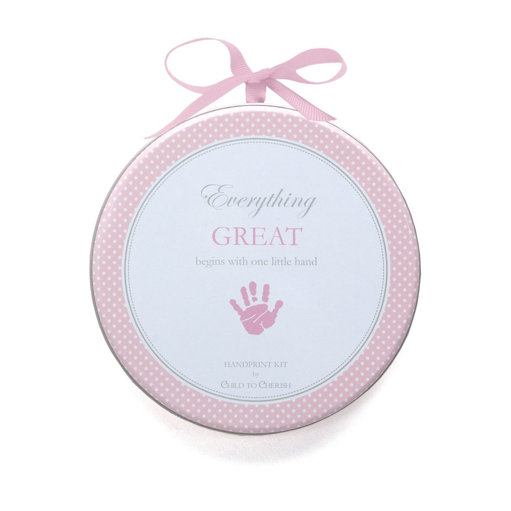 Child to Cherish My Child's Handprint with Hanger, Pink