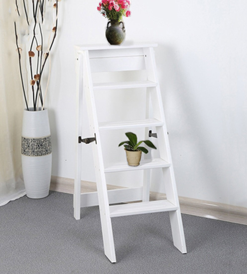 CAIJUN 折り畳み梯子 二重使用 無垢材 屋内 5つのステップ パイン材 繊細な 階段ラック ステップ (色 : 3#) B07DH4636J 3# 3#