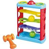 Playgo - Torre rampas de 3 pelotas y martillo (ColorBaby 44557)