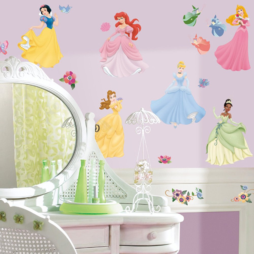 Disney Princess Peel And Stick Wall Decals   Decorative Wall Appliques    Amazon.com