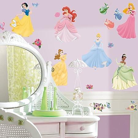 Adesivi Murali Principesse Disney.Disney Principesse Adesivi Murali Amazon It Casa E Cucina