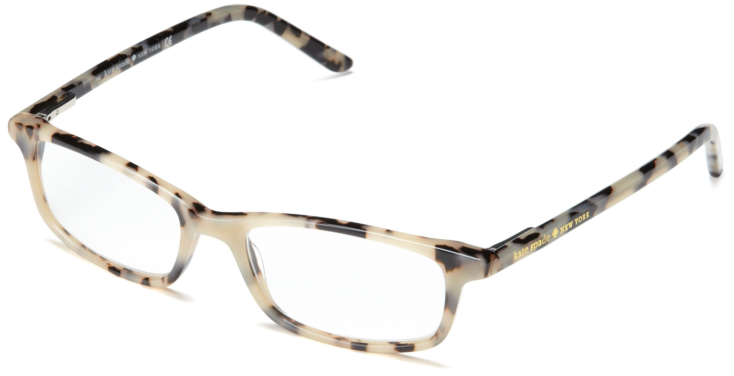 Kate Spade Women's Jodie Rectangular, Milky Tortoise, 50 mm 1.5