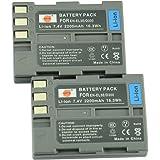 DSTE® アクセサリ Nikon EN-EL3E 互換 カメラ バッテリー 2個 対応機種 D70 D70S D80 D90 D100 D200 D300 D300S D700