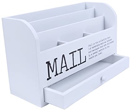 white storage desk compartment tier file with offic p letter mail organizer for s desktop wooden drawer sorter tiered