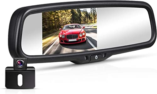 BOSCAM K4 Backup Camera Kit, 170 Waterproof Back Up Car Camera with 4.3 LCD Rearview Mirror Monitor
