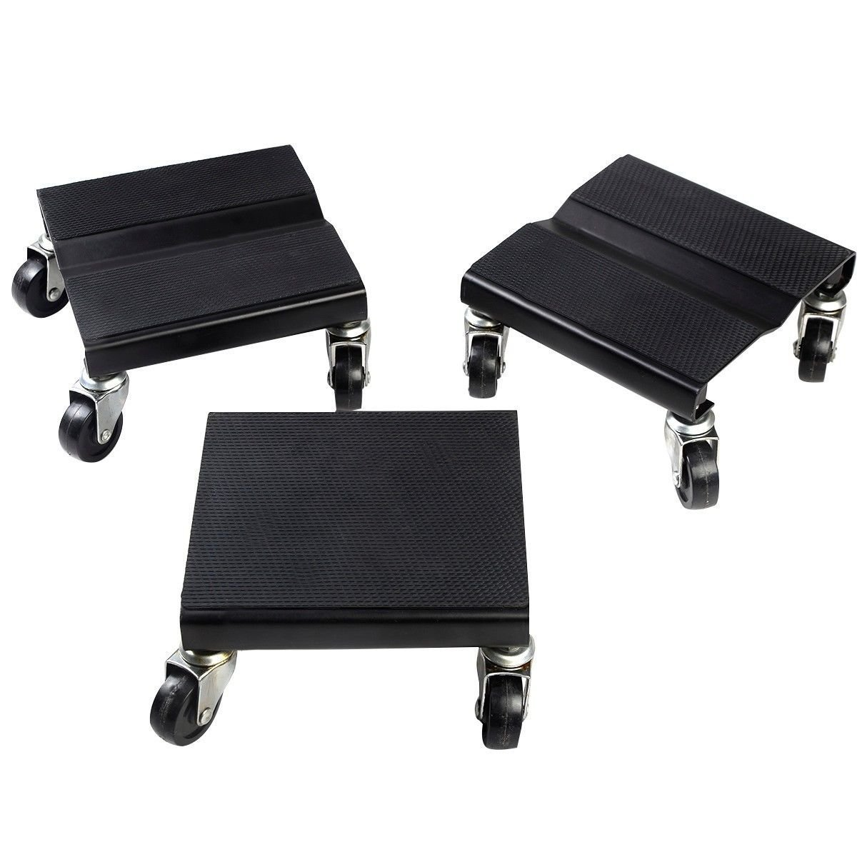 Goplus 3 PC Snowmobile Dolly Set Anti-slip Snow Mobile Moving Rollers Dollies Movers, 1500 LBS Capacity