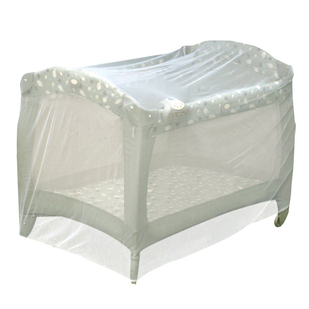 J is for Jeep Universal Size Pack N Play Mosquito Net Tent, White
