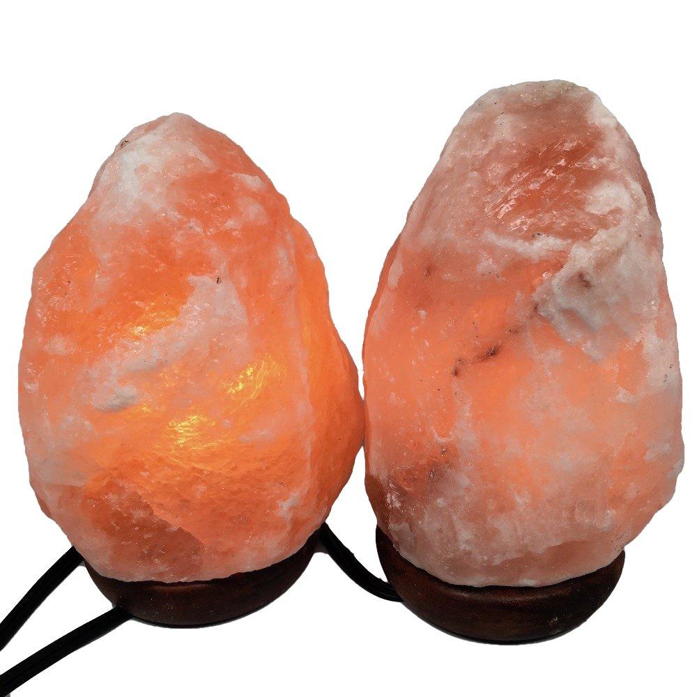2x Himalaya Natural Handcraft Rough Raw Crystal Salt Lamp 7''-7.5''Tall, X070, Exact Item Delivered by Watan Gems