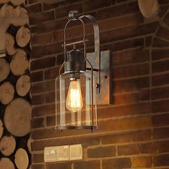 Murale Bras Abat Vintage Fer Multi Jour Industrielle Verre Lampe rtQCshd