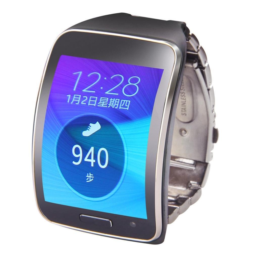 Ouneed For Samsung Gear S SM-R750 Metal del Acero Inoxidable de Venda de Reloj de Pulsera Correa de muñeca para Samsung Gear S SM-R750