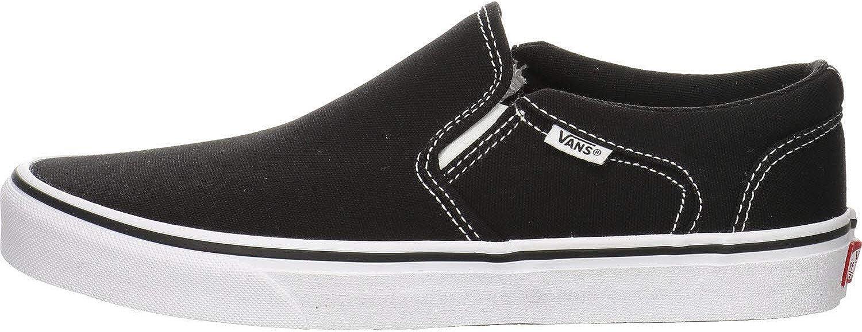 Vans Asher Skate Shoes Slip-On Black/White