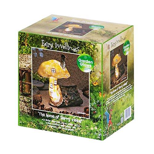 Garden Glows Solar Powered LED Fairy House Mushroom Ornament Berry Iceleaf