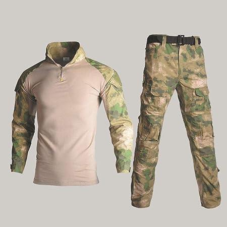 QIKAI Ropa táctica Táctico Fuerzas Especiales de Camuflaje del ejército Exterior Rana Hombre Traje Conjunto Entrenamiento táctico Ropa Hombres K-XXL+30: Amazon.es: Hogar