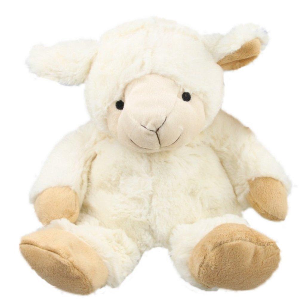 Inware 8745 - Peluche Mouton, creme, pour le chauffage au micro-ondes, remplissage amovible