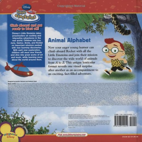 Animal Alphabet (Disney Little Einsteins) by Brand: Disney Press