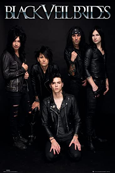 Amazon black veil brides poster 24 x 36in posters prints black veil brides poster 24 x 36in m4hsunfo