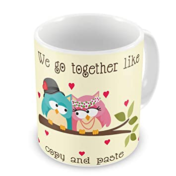 Indigifts Valentine Day Gift We Go Together Quote Printed White Coffee Mug 330 Ml