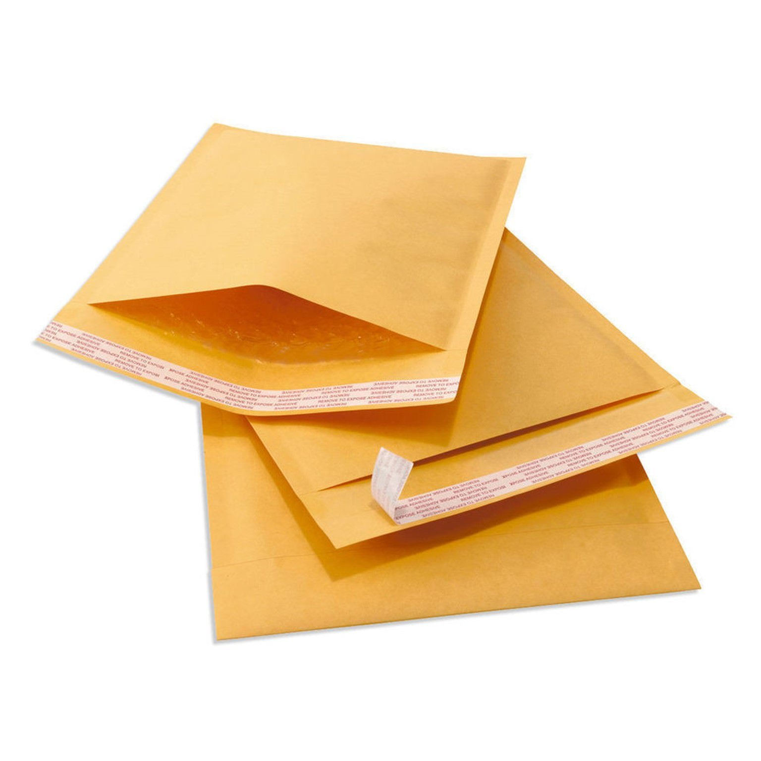 OfficeKit Kraft Bubble Mailers #0 6X10 Inches Shipping Padded Envelopes Self Seal Cushioned Mailing Envelope Bags 100 PACK by OfficeKit (Image #2)