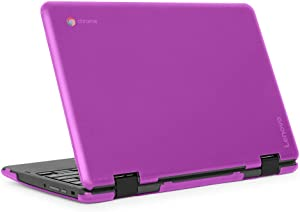 "mCover iPearl Hard Shell Case for 2018 11.6"" Lenovo 300E / Flex 11 Series 2-in-1 Chromebook Laptop (NOT Fitting Lenovo 300E Windows & N21 / N22 / N23 /100E / 500E Chromebook) (C300E Purple)"